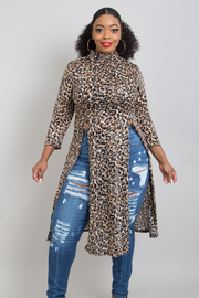 PLUS SIZE SEXY ANIMAL MESH SEE THROUGH COVER UP LONG DRESS