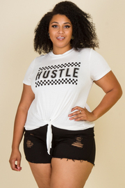 "Plus Size ""Hustle"" Knotted Top"