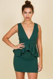 Sleeveless Waist Ruffle Mini Dress