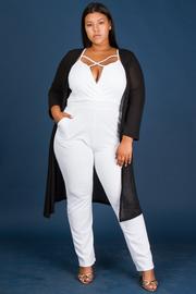 Plus Size Long Cardigan