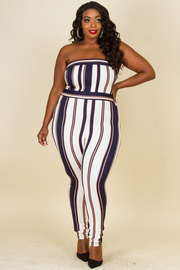 Plus Size Tube Top Jumpsuit
