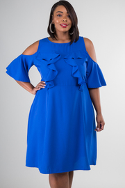 Plus Size Ruffle Off The Shoulder Dress