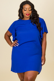 Plus Size Drape Short Sleeve Dress