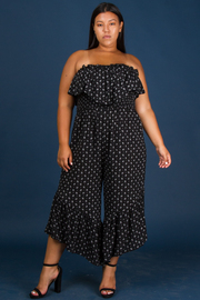 Plus Size Ruffle Tub Jumpsuit