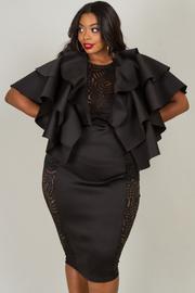 Plus Size Ruffle Sleeve Dress