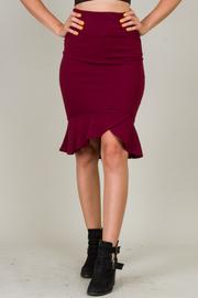 High Waist Skirt With Ruffle At The Hem