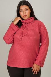 Plus Size Long Sleeve Turtleneck Top