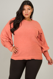 Plus Size Long Sleeve With Fitted Cuff Top