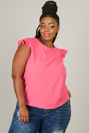 Plus Size Sleeveless Tie At The Back Top