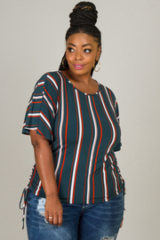 Plus Size Top With Ruched On Both Sides