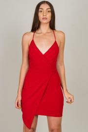 Spaghetti Strap Overlap Mini dress