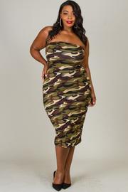 Plus Size Camouflage Tube Dress