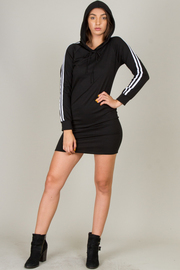 Double Stripe Hoodie Dress