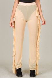 See Through With Ruffle Pants