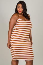 Plus Size Stripe Spaghetti Strap Dress