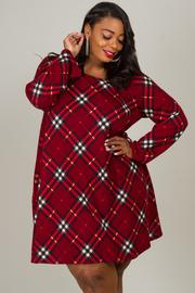 Plus Size Long Sleeve Flannel Dress