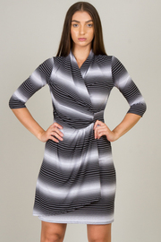 Ombre Stripe Wrap Dress