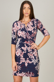 Keyhole 3/4 Sleeve Dress