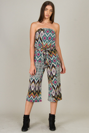 Tube Jumpsuit With Tie At The Waist