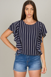 Ruffled Crew Neck Top