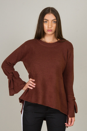 Tie on Sleeve Sweater Top