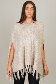 Fringed Sweater Poncho