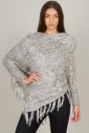 Handkerchief Sweater Poncho