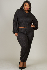 Plus Size French Terry Casual Sets
