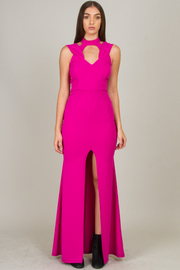 High Neck Halter Neckline Long Dress