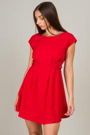 Bateau Neck Line Short Dress