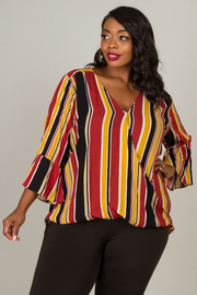 Plus Size Bell Sleeve Top