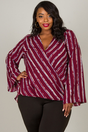 Plus Size Long Angel Sleeve Top