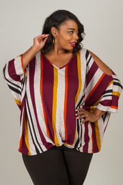 Plus Size Slit Sleeve Top