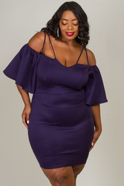 Plus Size Off The Shoulder Spaghetti Strap Dress