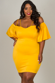 Plus Size Off The Shoulder Spaghetti Strap Dress