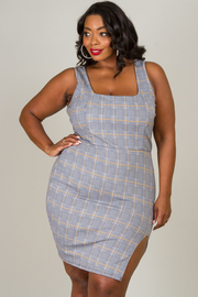 Plus Size Square Neck Sleeveless Dress