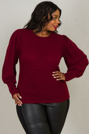 Plus Size Long Bishop Sleeve Blouse