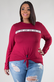 "Plus Size Long Sleeve ""LOVE"" Tee"