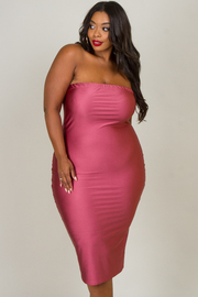 Plus Size Sexy Fitted Tube Dress