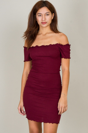 Sexy Ruched Off The Shoulder Mini Dress