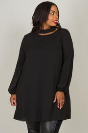 Plus Size Long Bishop Sleeve Dress