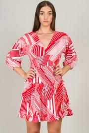 3/4 Sleeve Flouncy Dress