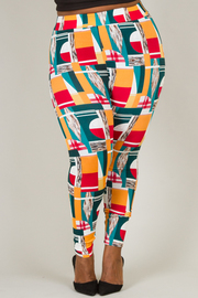 PUFF UP PRINTED REGULAR LEGGINS
