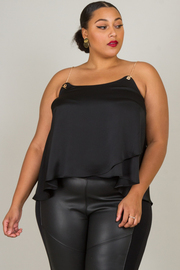 Plus Size Chain Spaghetti Strap Top