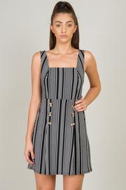 Square Shape Neckline Mini Dress