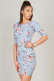 Short Sleeve Floral Bodycon Dress