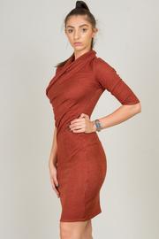 3/4 Sleeve Draped Dress