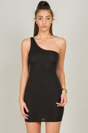 One Shoulder Sleeveless Mini Dress