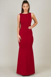 Sabrina Neck Line Long Dress With Deep V Back Line