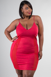 Plus Size Sexy Slip Spaghetti Strap Dress